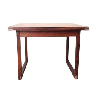 Vintage Danish Modern Rosewood Square Side Table For Sale