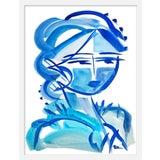 "Image of Medium ""Blue Girl 21"" Print by Maren Devine, 19"" X 24"" For Sale"