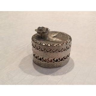 Metal Cylinder Decorative Box With Lid Preview