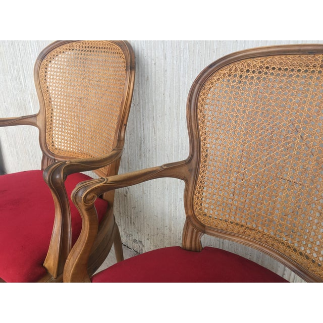 18th Louis XV Cane Back and Seat Fauteuil Armchair. For Sale - Image 4 of 13