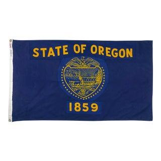 Vintage Cotton Flag of Oregon For Sale