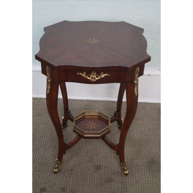 Maitland Smith Louis XV Style Brass Ormolu Side Table - Image 2 of 10