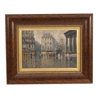 Painting of Paris at Dusk For Sale