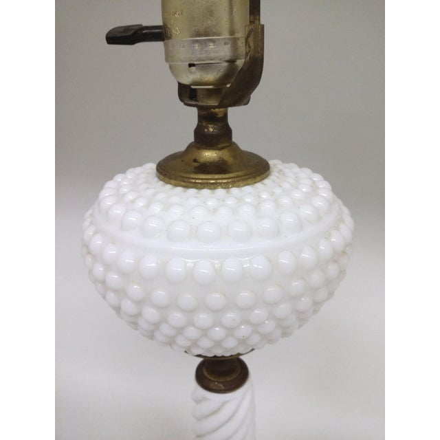Vintage Milk Glass Table Lamp - Image 5 of 8