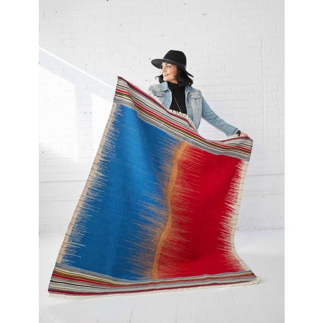 Kamo Sofreh Handmade Wool Kilim Rug - 4′ × 5′ For Sale - Image 4 of 6