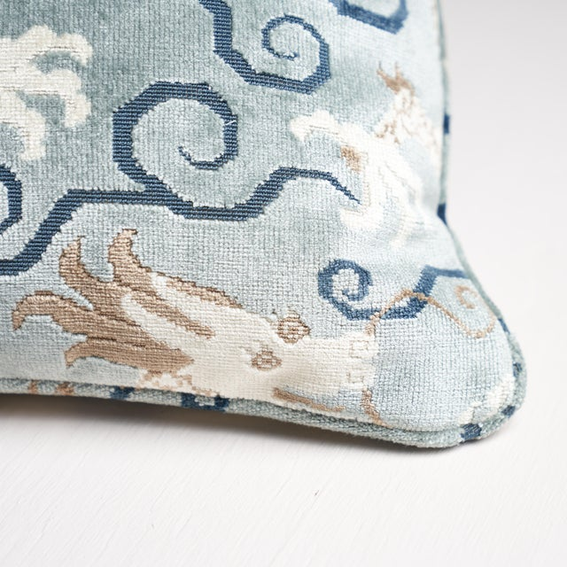 This pillow features Bixi Velvet with a self-welt finish. Inspired by chinoiserie motifs, this fabulous, fantastical...