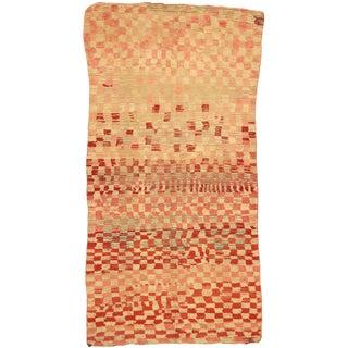 Vintage Moroccan Rehamna Rug - 4′4″ × 8′8″ For Sale