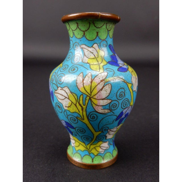 Antique Chinese Cloisonne Temple Vase For Sale - Image 6 of 11