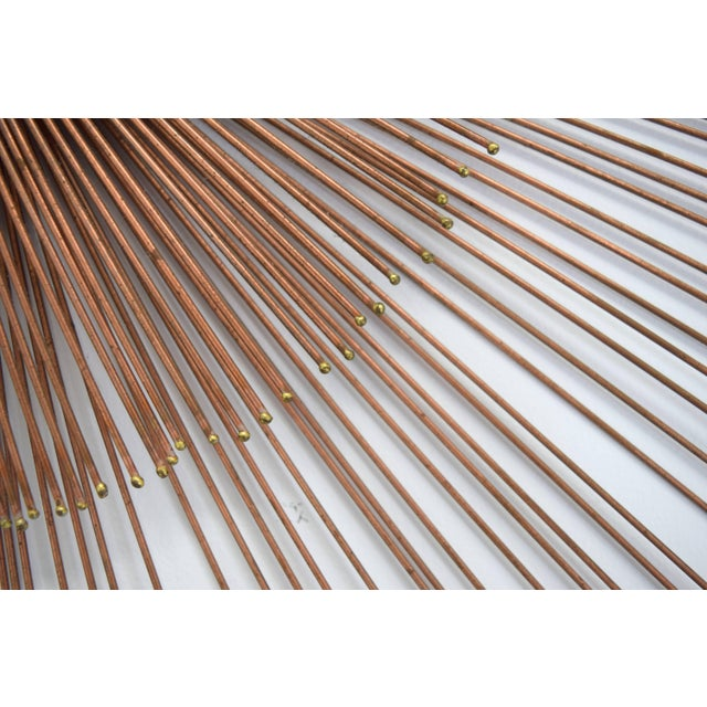 Curtis Jere Copper Rod Sunburst Wall Sculpture For Sale In Chicago - Image 6 of 8