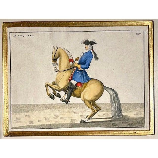Engraving Four Engravings of Horse Riders Le Sensible, Le Royal, Le Conquerant, Le Ballon For Sale - Image 7 of 11