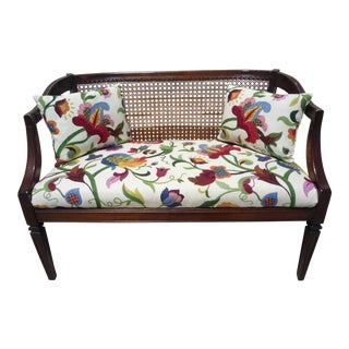 Mid-Century Modern Regency Wicker Loveseat For Sale