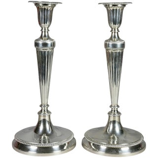 Pair of Large Tiffany & Co. Sterling Candlesticks For Sale