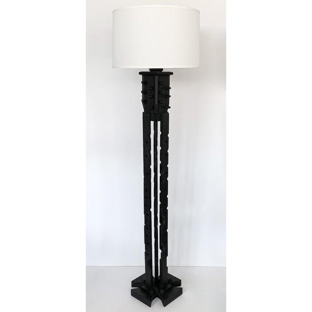 "Designer: unknown USA - Circa 1980s Dimensions: 70"" H x 12"" W x 12"" D Condition: Very good vintage condition. Unique black..."