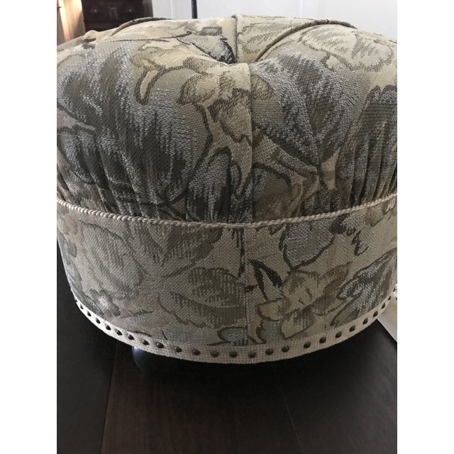 Vintage Fabric Upholstered Foot Stool/Ottoman For Sale - Image 12 of 13