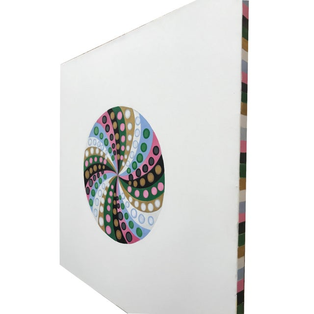 2010s Final Markdown/Contemporary Spiral Painting by Natasha Mistry For Sale - Image 5 of 12