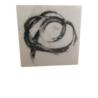 Acrylic Abstract Black and White Artwork For Sale