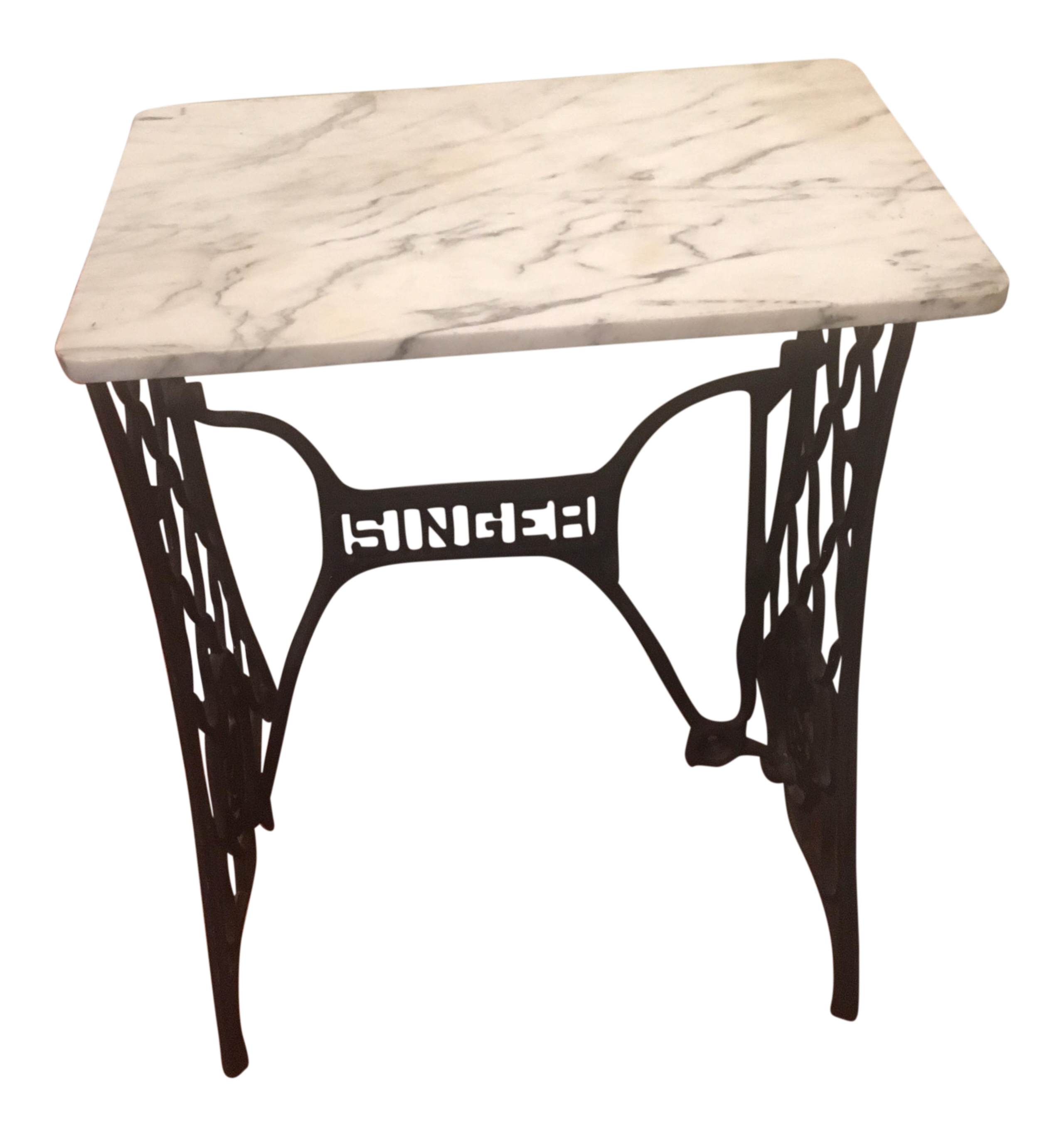 Marble Top Singer Sewing Machine Table