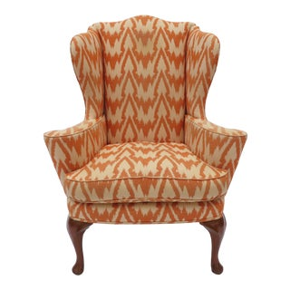 A Georgian Style Wingback Chair, C1960 Easy Chair For Sale