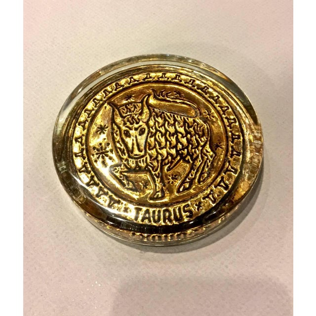1960s Mid-20th Century Venetian Zodiac Paperweights For Sale - Image 5 of 9