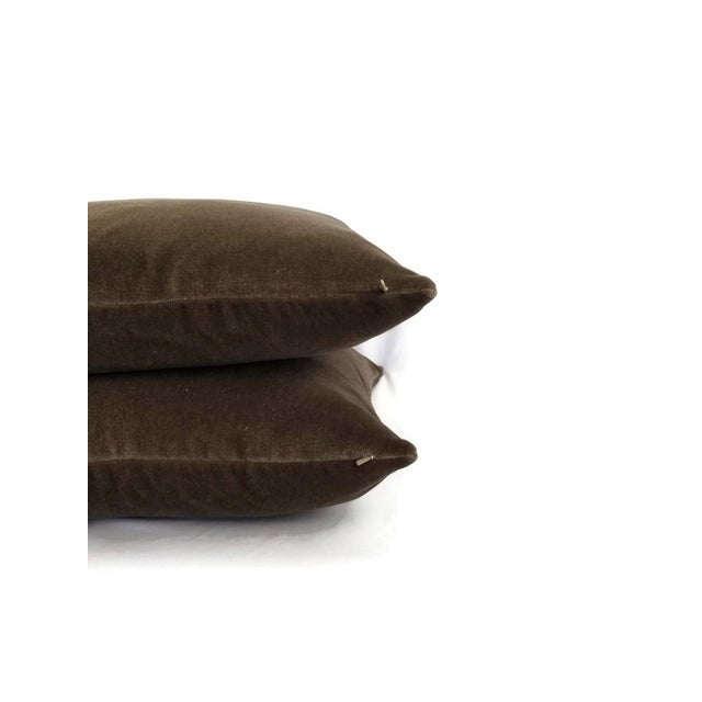 This a lovely soft mohair velvet in a rich solid wood brown color. A stunning piece that will compliment your designs....