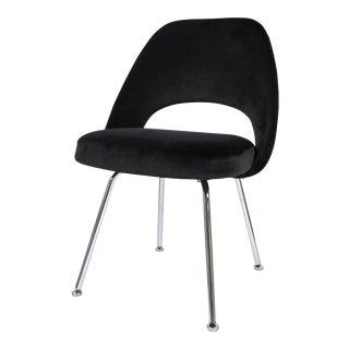 Saarinen Executive Armless Chair in Noir Velvet For Sale