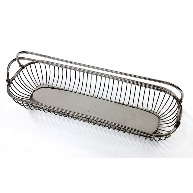 Silver Plate Wire Bread Basket - Image 3 of 8