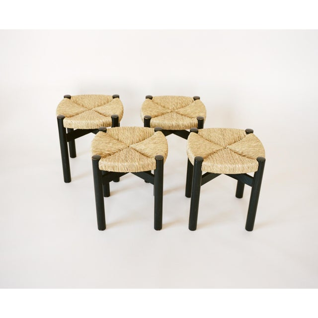 French Charlotte Perriand Set of Four Stools C. 1948 For Sale - Image 3 of 8
