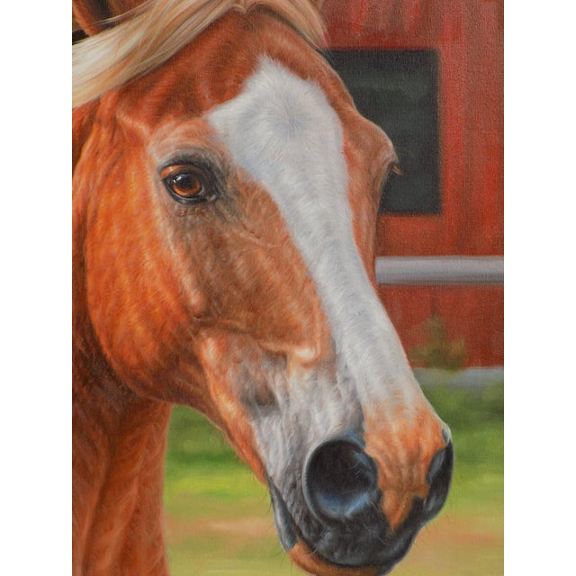 Traditional Horse Portrait Painting For Sale - Image 3 of 4