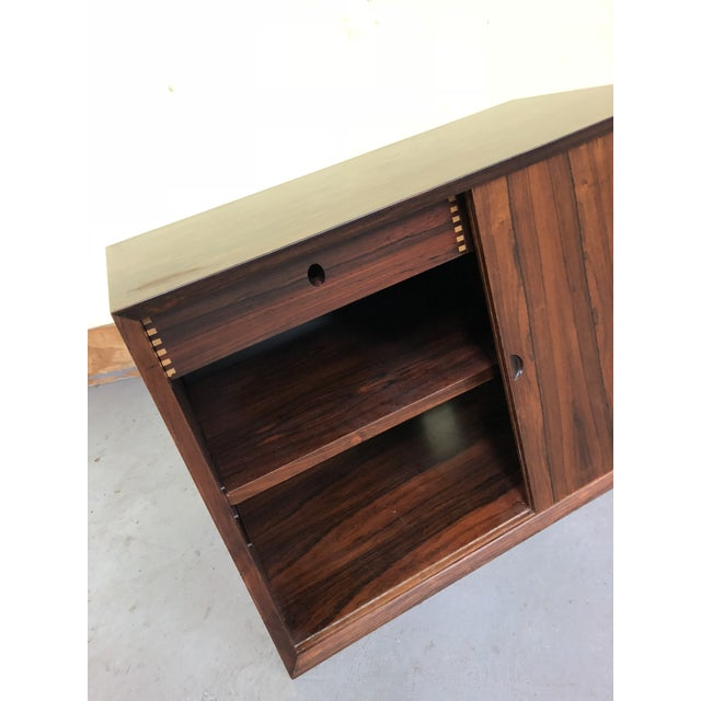 Rosewood 1960s Mid-Century Modern Poul Cadovius Rosewood Wall Unit Sliding Door Cabinet For Sale - Image 7 of 8