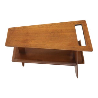 Wedge Shape Magazine Rack Stand End Side Table For Sale