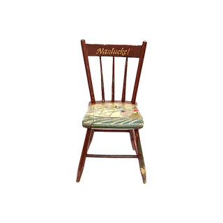 19th Century Antique Hand-Painted Nantucket Chair For Sale