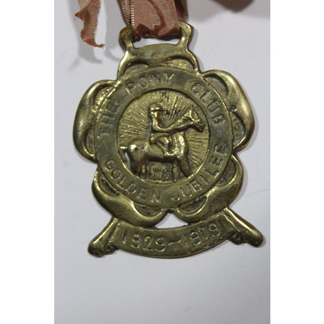 English Pony Club Jubilee Horse Brass Ornament - Image 3 of 3