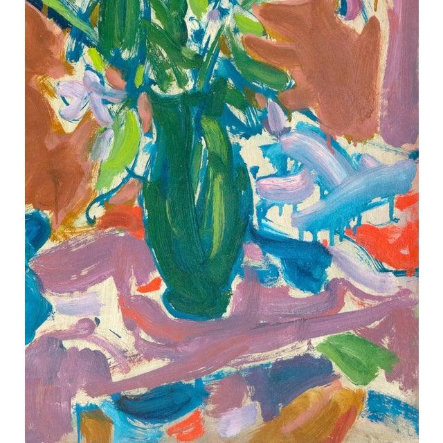 Victor DI Gesu Still Life of Irises 1955 For Sale - Image 4 of 7