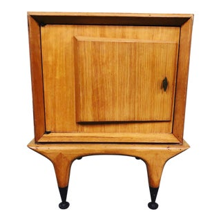 1960s Mid Century Modern Wooden Nightstand For Sale