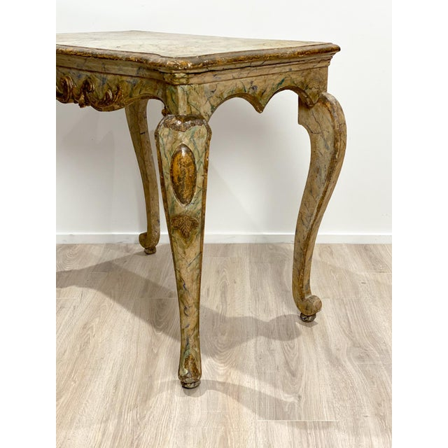19th Century Italian Baroque Style Console Table For Sale - Image 5 of 8