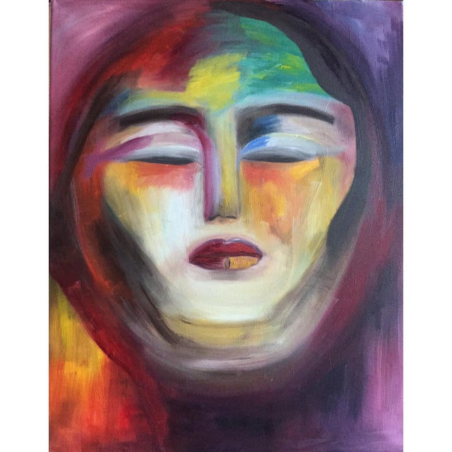 """""""Warrior Goddess"""" Abstract Oil Painting - Image 1 of 2"""