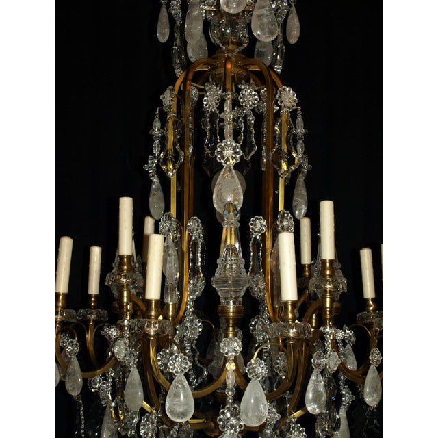 Baccarat Antique Chandelier. Rock Crystal Chandelier by Baccarat For Sale - Image 4 of 8