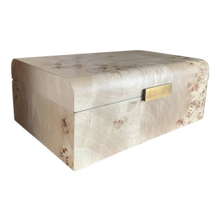 Burl Wood Box by Worlds Away For Sale