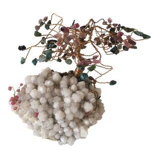 Quartz, Jade, & Amethyst Tree