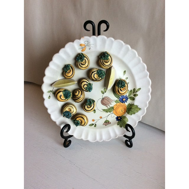 Ceramic 1940s Trompe l'Oeil Escargot Plate For Sale - Image 7 of 7