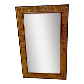 Biedermeier Style Ebony and Walnut Mirror For Sale