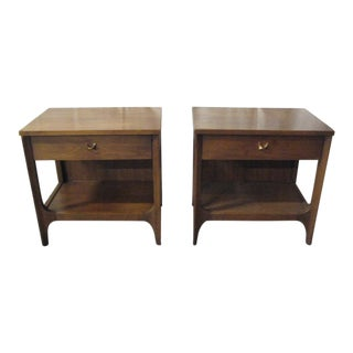 Mid-Century Brasilia Broyhill End Tables - A Pair For Sale