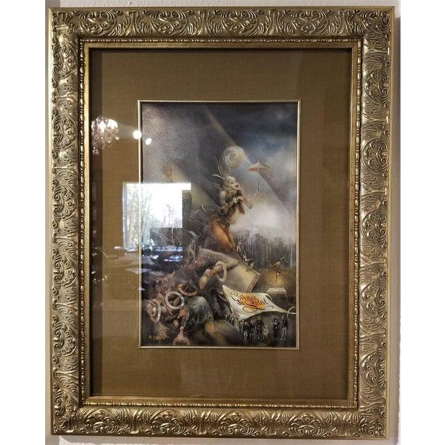 "Belle Epoque Vladimir Ryklin ""Cirque De Soleil 2"" Oil Painting on Canvas For Sale - Image 3 of 9"