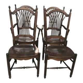 Vintage Nichols and Stone Wood Chairs - Set of 4 For Sale