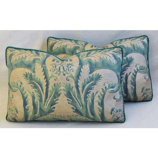 Cotton Italian Mariano Fortuny Feather/Down Accent Pillows - Pair For Sale - Image 7 of 13