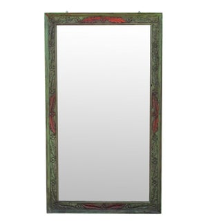 Chic Floral Carved Mirror
