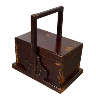19th Century Chinese Hand Carved Meal Delivery and Lunch Box