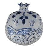 Image of Handmade Turkish Ceramic Decorative Bowl, Hand Painted Boho Style Home Decor For Sale