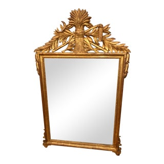 Cannell & Chaffin Italian Giltwood Rococo Mirror For Sale