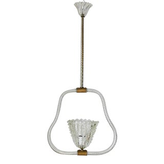 1950s Pulegoso Pendant by Ercole Barovier For Sale